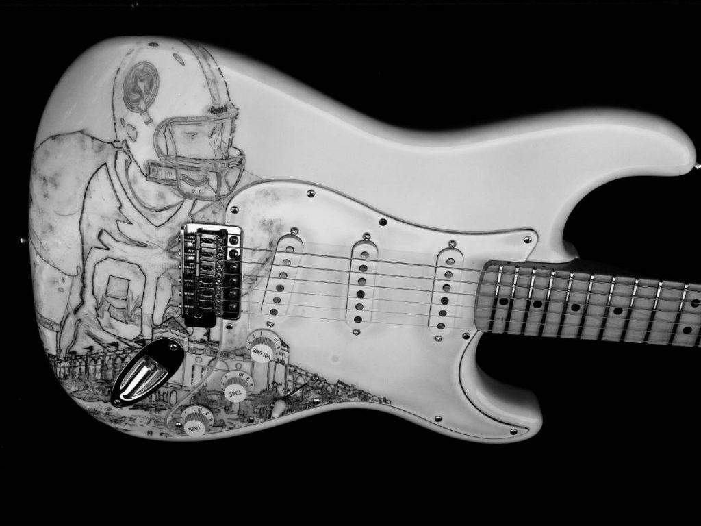 Graphisme sur Fender Stratocaster